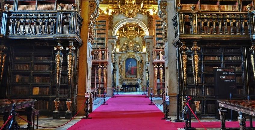 Historic Joanina Library of Coimbra's Univerity