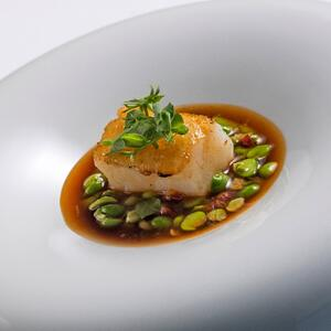 The Yeatman - Codfish - Grilled fillet with peas and chorizo