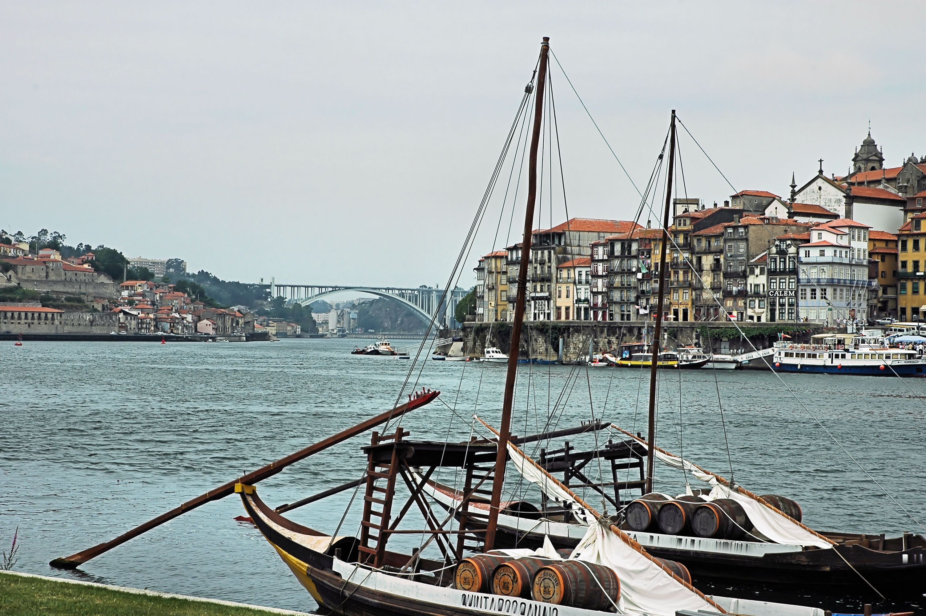 Overlooking Douro River and Porto's Riverside