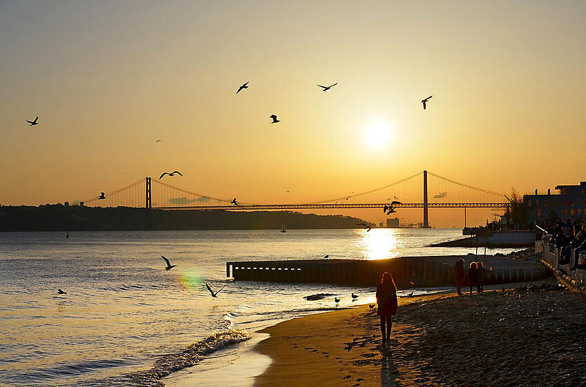 Fall City Breaks in Portugal - Sunset in Lisbon