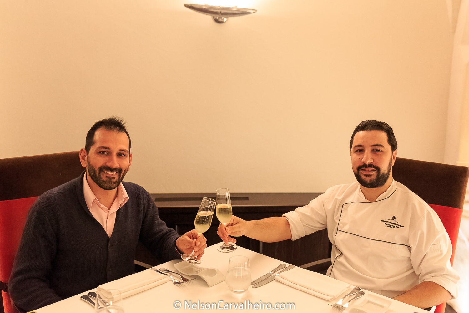 Alentejo Wine Travel Guide - Divinus Restaurant - Nelson Carvalheiro with Chef Bouazza Bouhlani