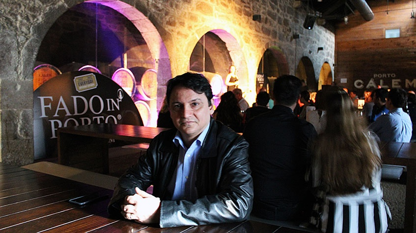 Marcelo Copello at Port Wine Cellar Calem