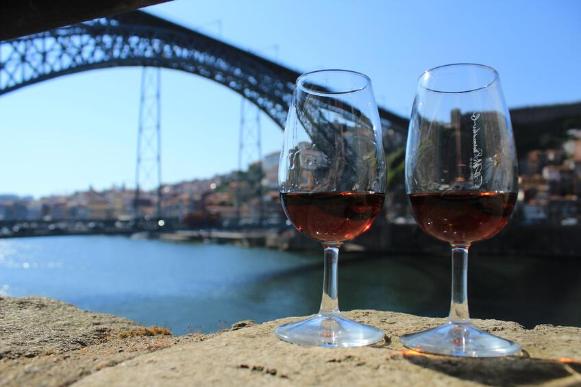 Port Wine - Douro River - Dom Luís I Bridge