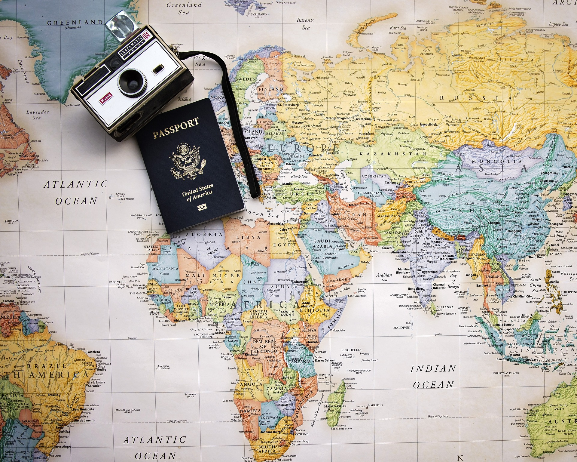 Passport Camera and Map