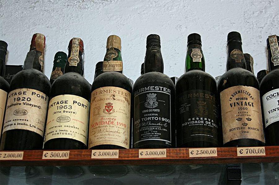 Old Port Wine Bottles