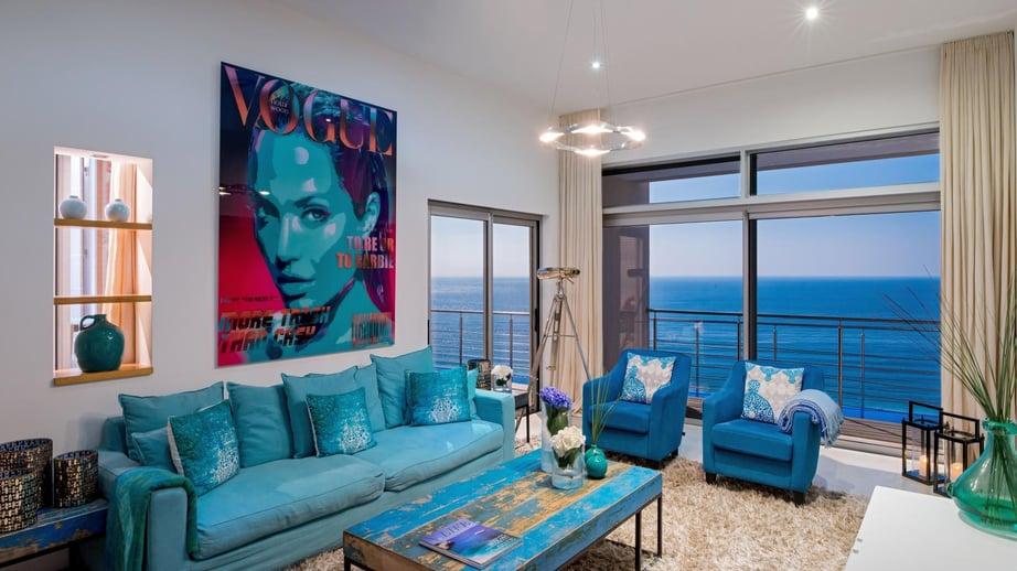 Villa Mar Azul - Living area and view