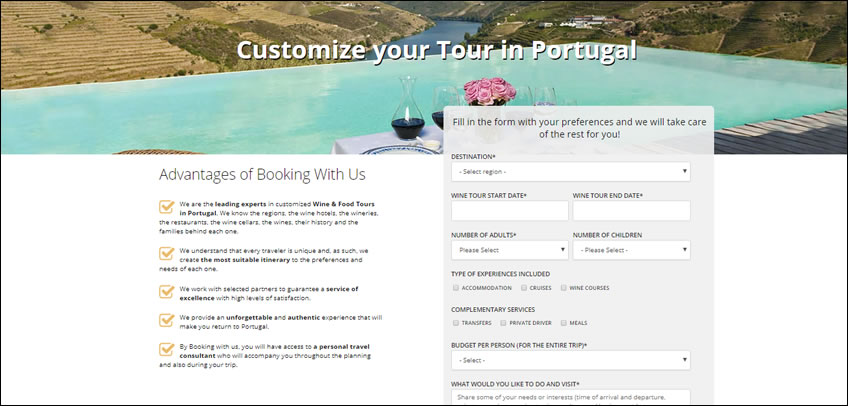Custom Tour Portugal; Package Tours Portugal