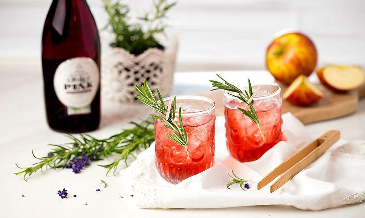 pink croft cocktail_rosemary