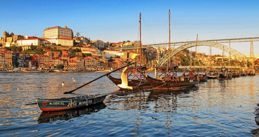Porto from Vila Nova de Gaia's riverbank