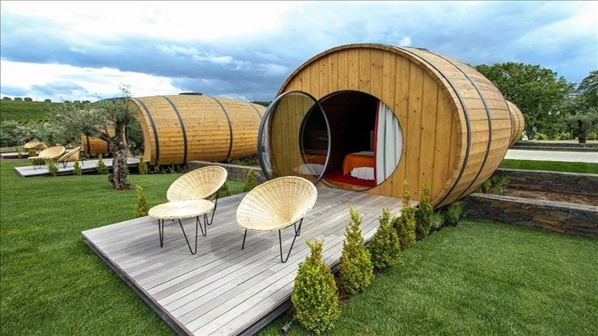 Sleep in a barrel in the Douro Valley